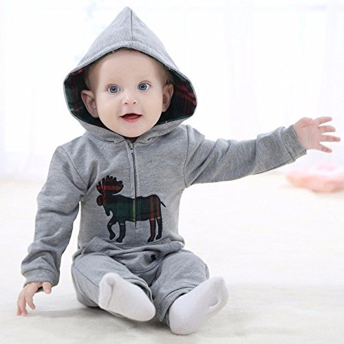 12Month Gray!!Carters Newborn Months Jumpsuit Playsuits Romper Baby Boy Outfit Clothes