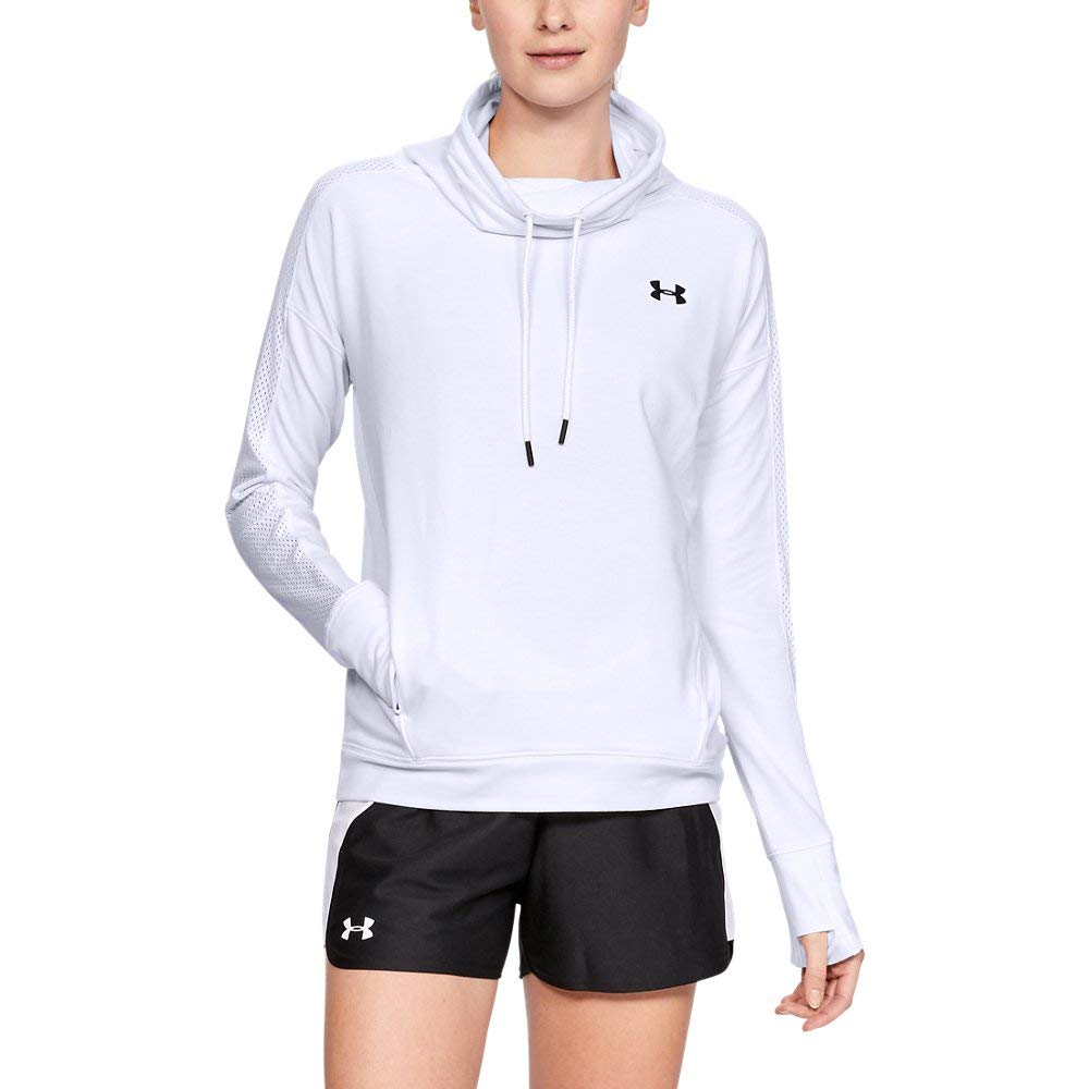 Under Armour Women's UA Featherweight Fleece Funnel Neck XS White