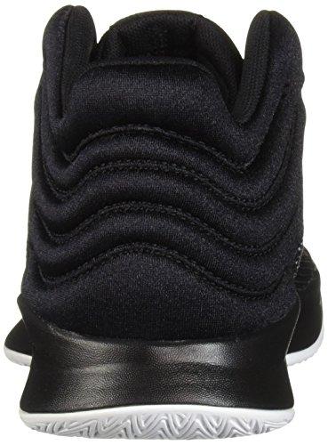 adidas Unisex Pro Spark 2018 Basketball Shoe, Black/White/Grey, 2.5 M US Little Kid by adidas (Image #2)