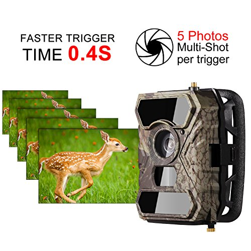 2017 New Wireless Trail Camera Ancheer 3G GPRS MMS SMS Game Wildlife Camera 04s Trigger Time HD 12MP 56pcs IR LEDs and Infrared Night Vision 100FOV 110 PIR Angle with Time Lapse Bullet Cameras