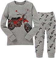 "kidsmall ""Motorcycle Baby Boys Pajama Set Sleepwear 100% Cotton"