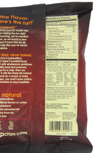 082666722007 - Popchips Potato Chips, BBQ, 0.8 Ounce (Pack of 24) carousel main 4