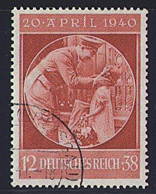 Goldhahn Deutsches Reich Nr 744 Gestempelt Hitlers 51 Geburtstag