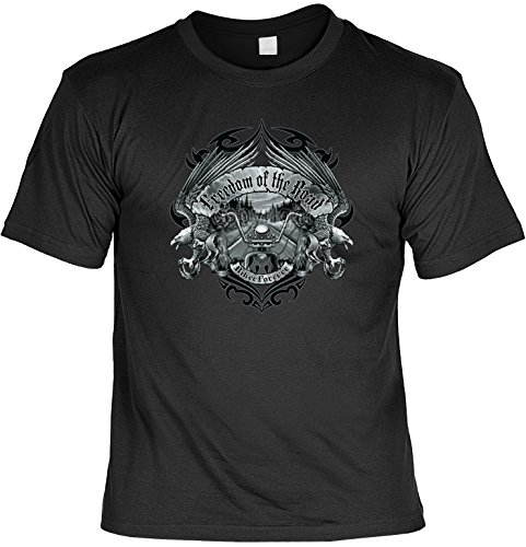 Adler Biker Road Cruser T-Shirt : Freedom of the Road -- T-Shirt bedruckt