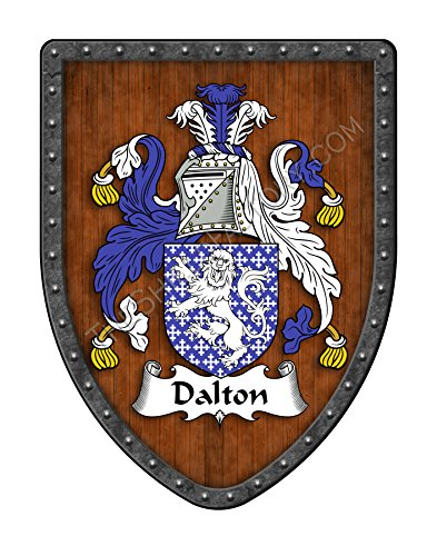 Dalton Family Crest Custom Coat of Arms, Family Ancestry and Heritage Hanging Metal Wall Plaque Shield - Hand Made in the USA