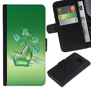iBinBang / Flip Funda de Cuero Case Cover - Frutas Peras Macro - Samsung Galaxy S6 SM-G920
