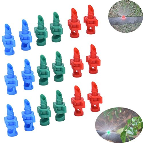 150Pcs Atomizing Garden Sprinkler Sprayer 90/180/360 Degree Refraction Garden Watering Irrigation Head Atomizing Misting Sprayer Nozzle Fog Sprinklers Gardening Lawn Micro-Sprayers System,Random Color -