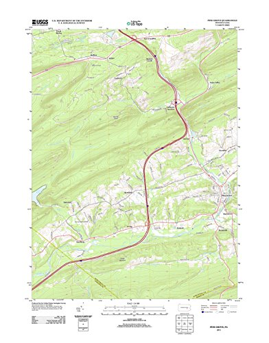 Topographic Map Poster - PINE GROVE, PA TNM GEOPDF 7.5X7.5 GRID 24000-SCALE TM 2010, 19