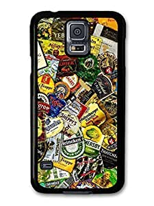 AMAF ? Accessories Beer Brands Collage Stickerbombs case for Samsung Galaxy S5