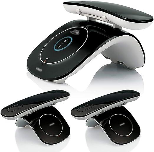 ZYFA Teléfono Fijo Retro Bluetooth for teléfonos inalámbricos (ROHS), con la exhibición de luz de Fondo Azul y LED, Parejas hasta 2 teléfonos (Color : J): Amazon.es: Hogar