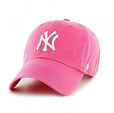 New York Yankees '47 Brand Clean Up Adjustable Hat - Berry by 47 Brand, LLC