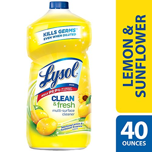 - Lysol Clean & Fresh Multi-Surface Cleaner, Lemon & Sunflower, 40oz
