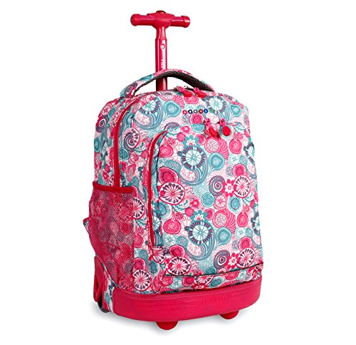 J World New York Sunny Rolling Backpack, Blue Raspberry