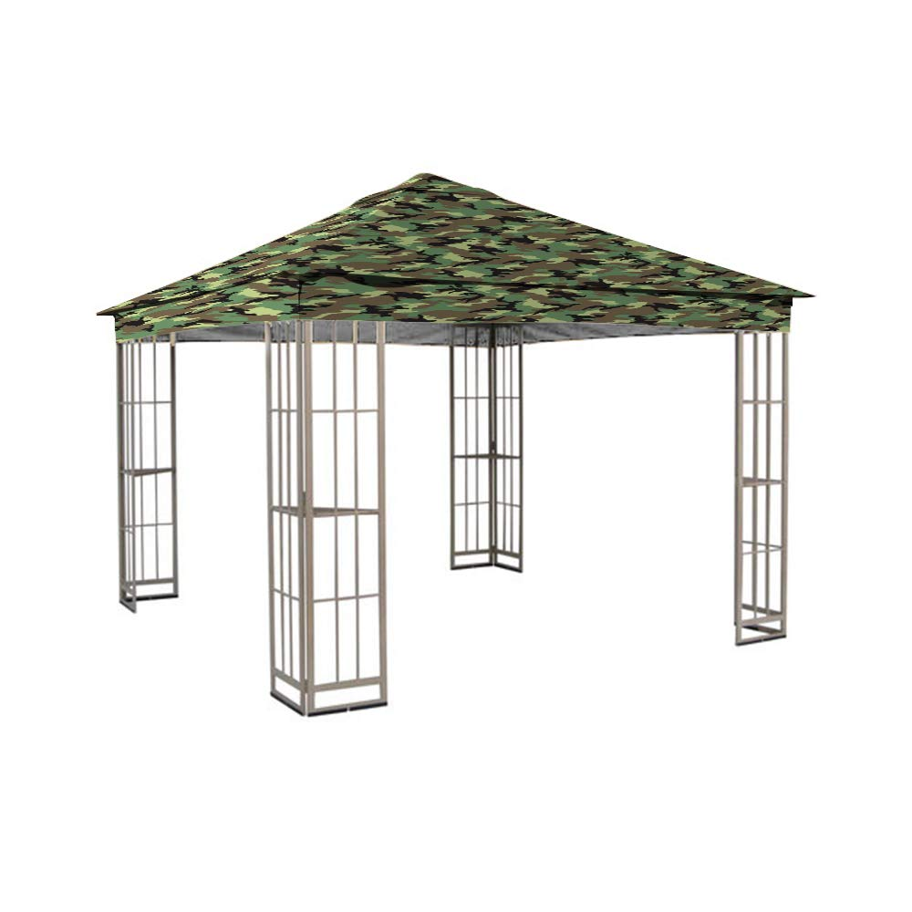 Garden Winds LCM949B Garden Treasurs S-J-109DN Gazebo Standard 350 Replacement Canopy, Beige