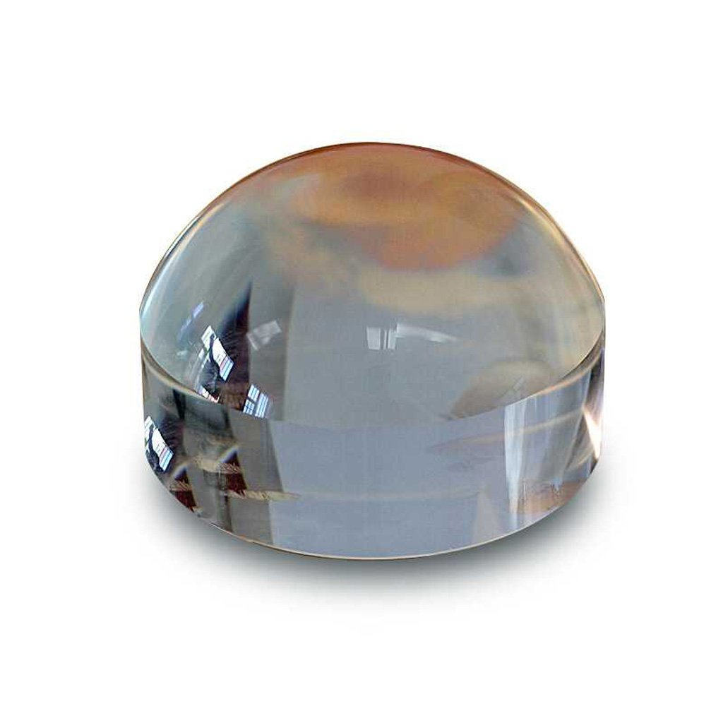 XHHWZB Crystal Dome Paperweight And Crystal Magnifier, 65mm Clear