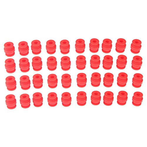 Jrelecs 50Pcs FPV Vibration Damping Balls Dual-head Anti-Vibration Rubber Ball For Gimbals Gopro DJI Quadcopter Aerial Photograpy (Red)