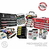 """Steellabels - """"Mechanics Lot"""" Plus, for Professional & Home Mechanics. Combo Pack includes Magnetic Toolbox Labels, Presidential Master Set, Circuit Breakers, Tackle ID, Universal Assembly Decals"""