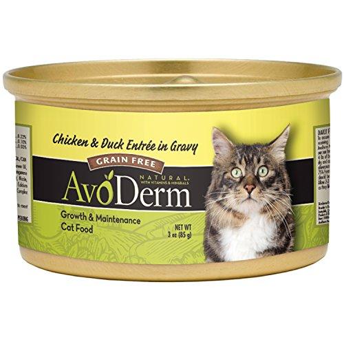 Avoderm Grain Free Wet Cat Food, Chicken & Duck Recipe, 3-Ou