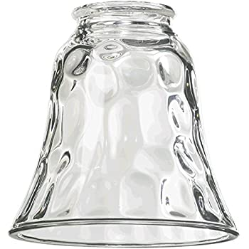 Westinghouse 8125800 Ribbed Glass Bell Shade Clear