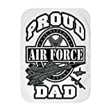Royal Lion Baby Blanket White Proud Air Force Dad Jets