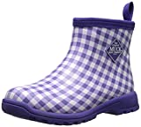MuckBoots Women's Breezy Casual All Purpose Ankle Boot, Purple Gingham, 11 M US