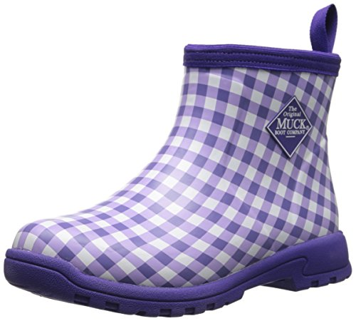 MuckBoots Women's Breezy Casual All Purpose Ankle Boot, Purple Gingham, 11 M US by Muck Boot