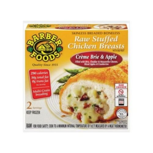 Barber Foods Creme Brie and Apple Stuffed Chicken Breast, 6 Ounce -- 20 per case.
