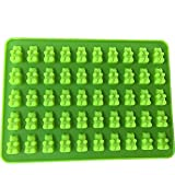 Silicone Bear Chocolate Candy Gummy Mold Cookies Cake Ice Cube Tray Baking Mould Color:Green