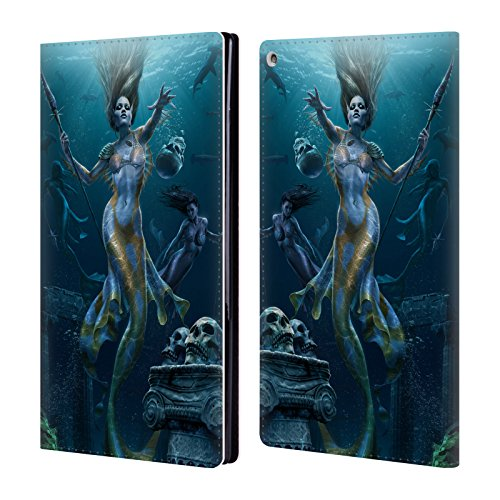 Official Tom Wood Mermaid Hunt Fantasy Leather Book Wallet Case Cover for Amazon Fire HD 10 -