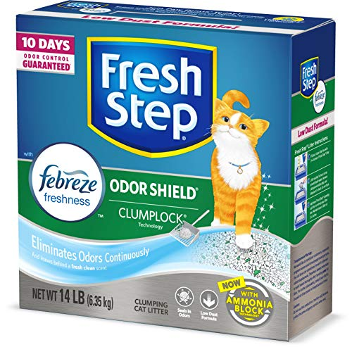 Fresh Step Odor Shield Scented Litter with The Power of Febreze, Clumping Cat...