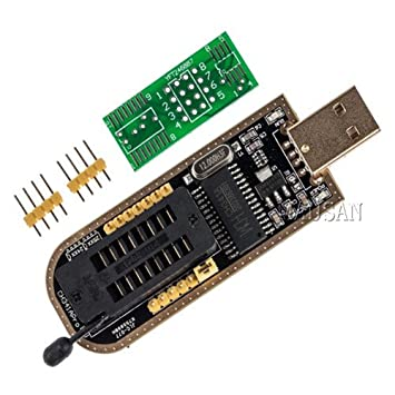 Partstower 5pcs USB Programmer CH341A Series Burner Chip 24 EEPROM