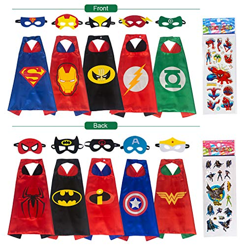 Babylian Superhero Dress Up Costume,5 Set of Double-Sided