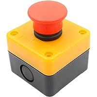Heschen rood teken Momentary noodstop schakelaar drukknop schakelaar 660V 10A met doos NC