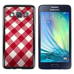 "Pulsar Snap-on Series Teléfono Carcasa Funda Case Caso para Samsung Galaxy A3 , Blanco modelo de la tela roja"""