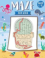Mazes for Kids Ages 4-8: The Maze Activity Books for Kids: Maze Books for Kids 4-6, 6-8 (Maze for Kids Workbook Game)