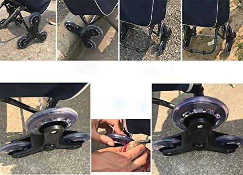 HCC& Gefaltet Einkaufswagen Tragbar Kofferkuli Lagerrad Klettern Wagen Mit Wasserdicht Tasche Dynamisch: 35kg f