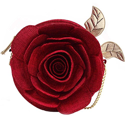 Danielle Nicole X Beauty and the Beast Linen Rose Crossbody Bag
