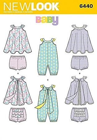 New Look Baby Schnittmuster 6440 Strampler, Sundress & Slip + Gratis ...