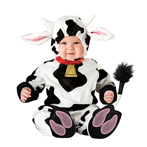 Cow Costumes Infant (JTENGYAO Infant Boys Girls Animal Cow Costume Halloween Christmas Pajamas Cosplay Costume(24-30 Months))