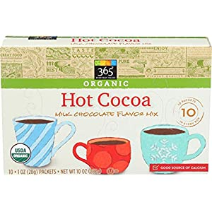 365 by Whole Foods Market, Organic Hot Cocoa Flavor Mix, Milk Chocolate (10 – 1oz Packets), 10 Ounce