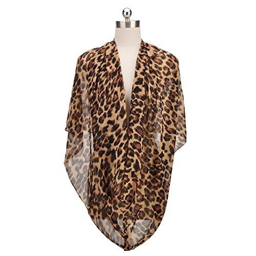 New Long Section Black Leopard Print Chiffon Shawl Fashion Wild Scarves Women