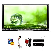 Fast shipping! 7 Inch 2 DIN Car Stereo for Universal GPS voice Navigation + Free 8GB GPS Map Card Car Support SD/USB Touch Screen FM AM Transmitter Subwoofer Output Steering Wheel Control Bluetooth Car Logo Remote Control Free 8GB GPS MAP Card