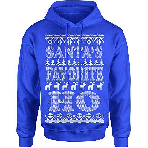 Hoodie Santa's Favorte Ho Adult XX-Large Royal (Adult Santa Hoodie)