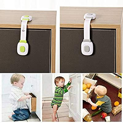 POPNINGKS Child Safety Lock (2 Pack) Kids Securitys Refrigerator Door Lock Limit with-Key Easy, Convenient & Simple to Install Gray: Clothing
