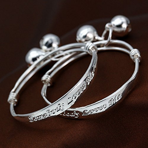 suchadaluckyshop siamsmilethailandshop Vintage Fashion 925 Silver Women Bracelet Bangle Charm Cuff Jewelry Gift New