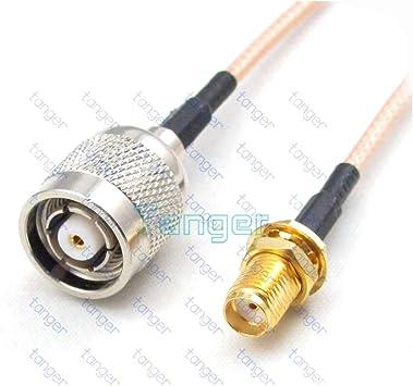 Lufasa RP-TNC - Cable coaxial RF de 15 cm con Conector Hembra SMA ...