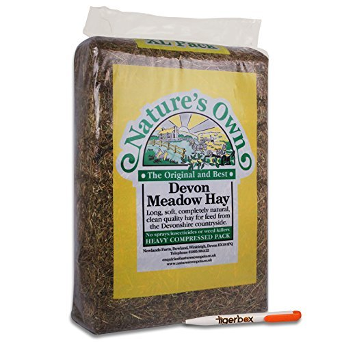 14KG Nature's Own Devon Meadow Hay Pet Food Animal Feed & Tigerbox Antibacterial Pen