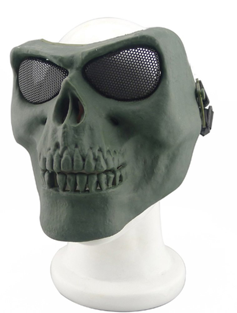 ISEYMI Metallic Mask For Bicycling/Halloween/Skull Skeleton/Airsoft/Paintball/BB Gun, A Full Face Protection Mask Shot Helmets by ISEYMI