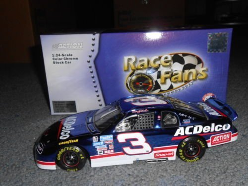 1996 Dale Earnhardt Sr #3 AC Delco Suzuka Japan Color Chrome Colorchrome Paint Scheme Monte Carlo 1/24 Scale Diecast Hood Opens Trunk Opens HOTO Limited Edition Action Racing Collectables ARC For Race Fans Only FRFO Edition