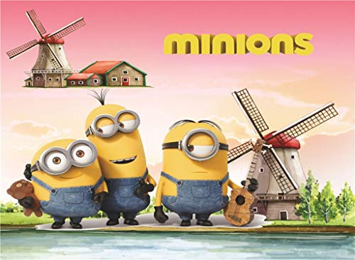 FORWIN US Puzzle House Despicable Me Movie Stills, Wooden Jigsaw Puzzle, Minions Film Poster, Fine Cut & Fit, 300/500/1000 Pieces Boxed Photography Toys Game Art for Adults & Kids 508]()